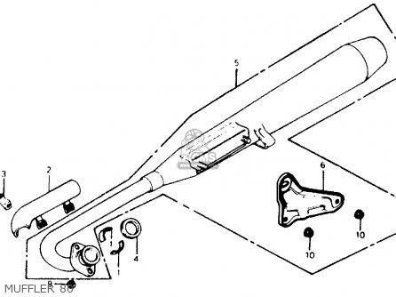 Honda C70 Passport 1980 Usa parts list partsmanual partsfiche