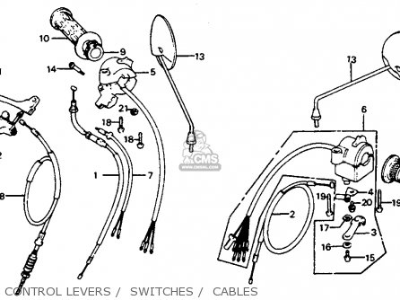 Honda C70 Passport 1982 (c) Usa parts list partsmanual