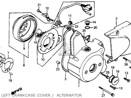 Honda C70 PASSPORT 1982 (C) USA parts lists and schematics