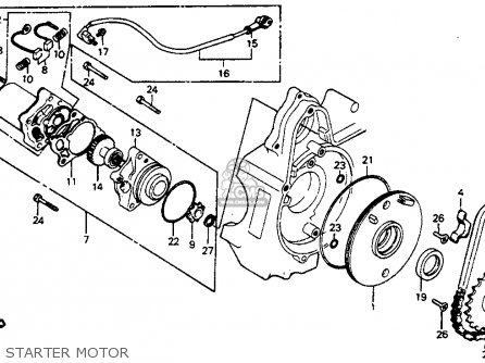 Honda C70 Passport 1982 (c) Usa parts list partsmanual