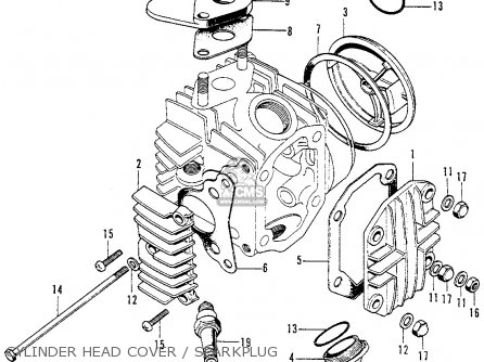 Honda C70K1 1972 USA parts lists and schematics