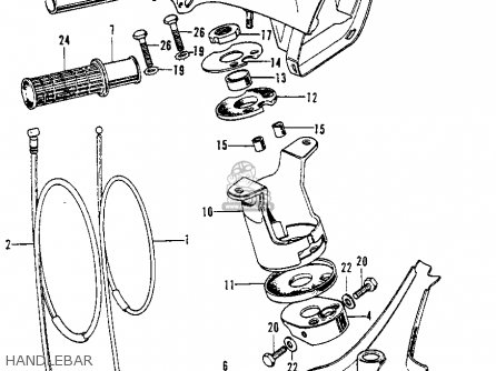 Honda C70k1 1972 Usa parts list partsmanual partsfiche
