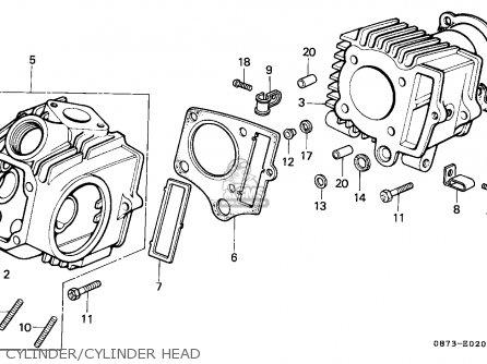 Honda C70z Cub 1977 England / Mph parts list partsmanual