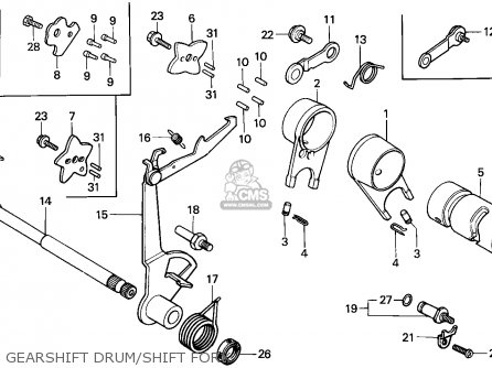Honda C70z Cub 1977 England / Mph parts list partsmanual
