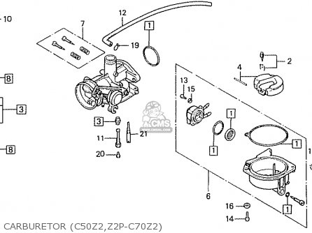 Honda C70Z2 GENERAL EXPORT ENGLAND SOUTH AFRICA / KPH MPH