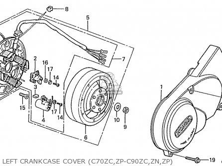 Honda C70zc parts list partsmanual partsfiche