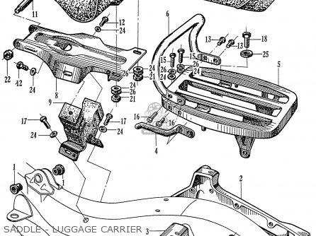 Honda C72 1960 1961 1962ii 1963 Dream (142592) parts list