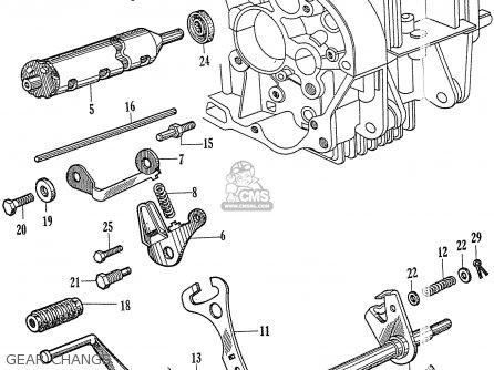 Honda C77 1960 1961 962 1963 1964 Dream (142592) parts