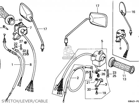 Honda C90 Cub 1982 (c) England / Csw parts list