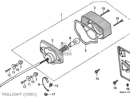 Honda C90 Cub 1982 England / Csw parts list partsmanual