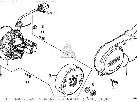 Honda C90 Cub 1986 (g) England / Ssw parts list