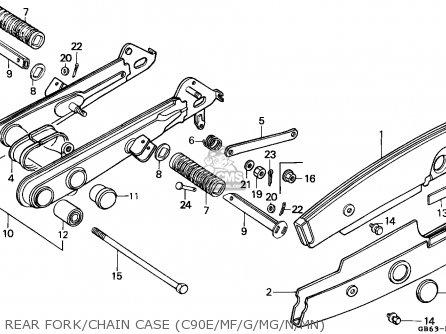 Honda C90 CUB 1986 (G) ENGLAND / SSW parts lists and