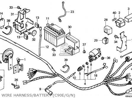 Honda C90 Cub 1992 England / Ssw parts list partsmanual