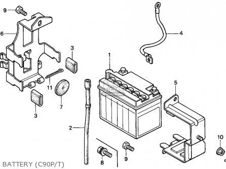 Honda C90 CUB 1992 (N) ENGLAND parts lists and schematics