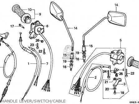 Honda C90 CUB 1996 (T) ENGLAND parts lists and schematics