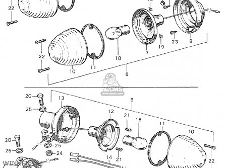 Honda C90 Cub England parts list partsmanual partsfiche