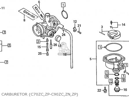 Honda C90Z 1992 (N) MEXICO parts lists and schematics