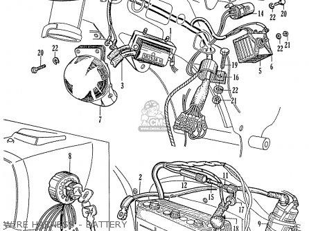 Honda C92 & Cs92 Benly Touring (general Export) parts list