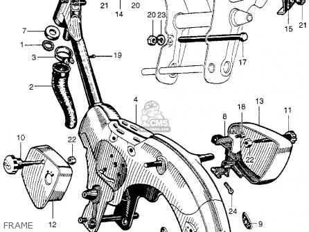 Honda Ca100 1962 Usa parts list partsmanual partsfiche