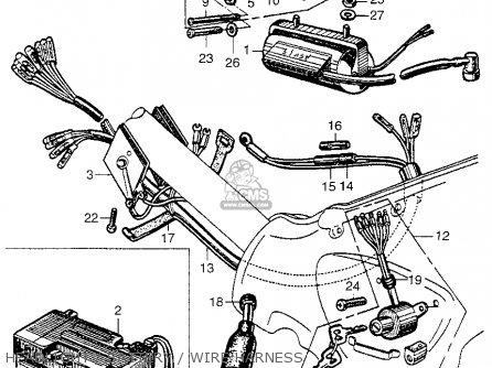 Honda CA100 1962 USA parts lists and schematics