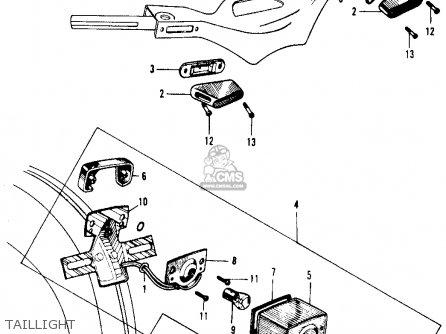 Honda Ca105t Trail 1963 Usa parts list partsmanual partsfiche