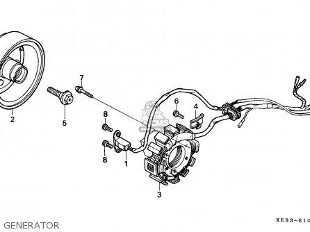 Honda CA125 REBEL 1995 (S) FRANCE / CMF KPH parts lists