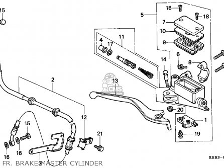 Honda CA125 REBEL 1996 (T) ENGLAND / MKH parts lists and