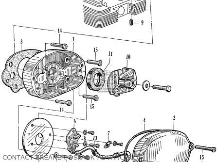 Honda Ca160 Touring 160 1966 Usa parts list partsmanual