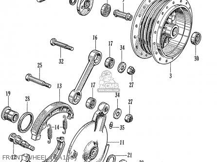 Honda Ca160 Touring 1966 Usa parts list partsmanual partsfiche
