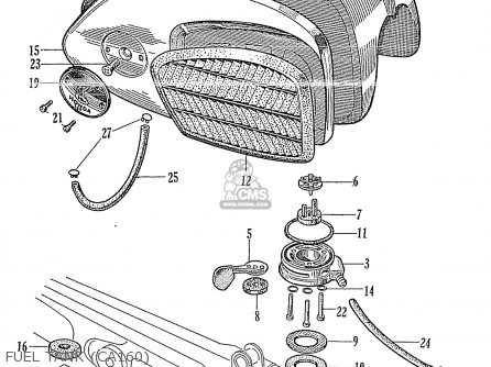 Honda CA160 TOURING 1966 USA parts lists and schematics