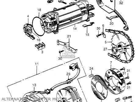 Honda Ca175k0 1968 Usa parts list partsmanual partsfiche