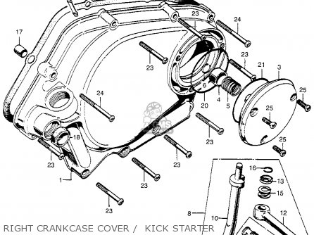 Honda CA175K3 1969 USA parts lists and schematics