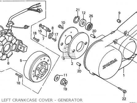 Honda Ca50lg (japan) parts list partsmanual partsfiche
