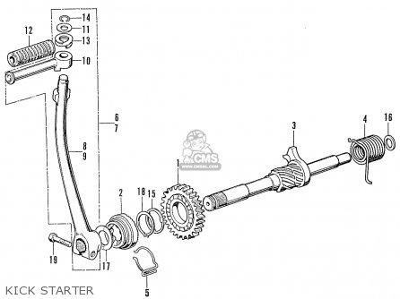 Honda Cb100 Super Sport K2 1972 Usa parts list partsmanual