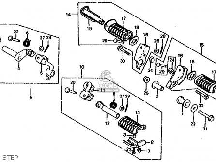 Honda Cb1000c 1000 Custom 1983 (d) Usa parts list