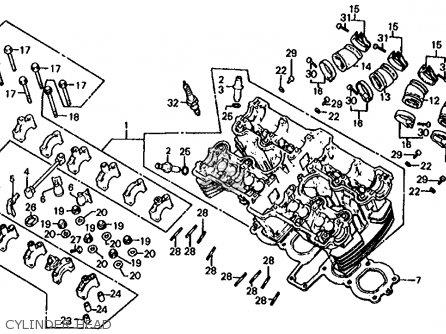 Honda Cb1000c 1000 Custom 1983 Usa parts list partsmanual