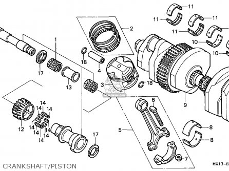 Honda Cb1000f 1995 (s) Germany / Kph parts list
