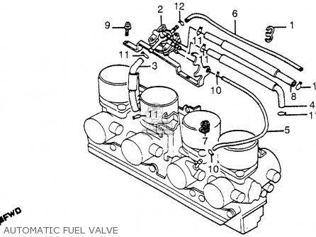Honda Cb1100f Super Sport 1983 Usa parts list partsmanual