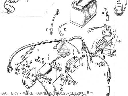Honda CB125K3 parts lists and schematics