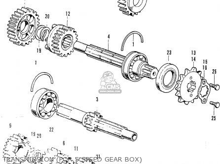 Honda Cb125k3 parts list partsmanual partsfiche
