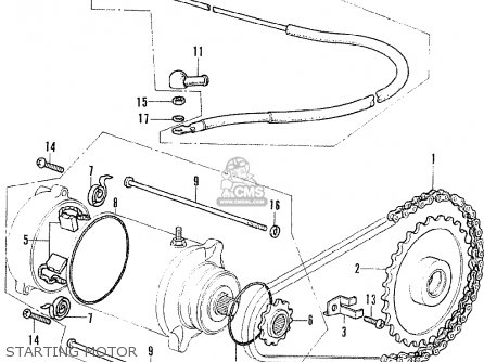 Honda Cb125k5 France parts list partsmanual partsfiche