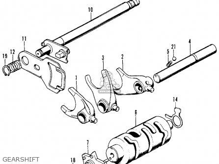 Honda Cb125s 1972 Usa parts list partsmanual partsfiche
