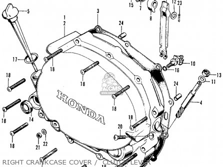 Honda Cb125s 1972 Usa parts list partsmanual partsfiche