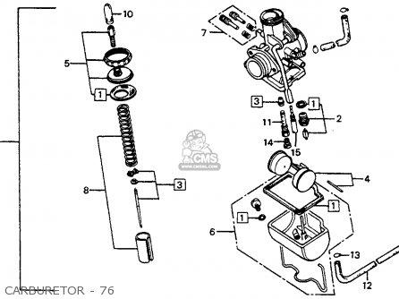 Honda Cb125s 1976 Usa parts list partsmanual partsfiche