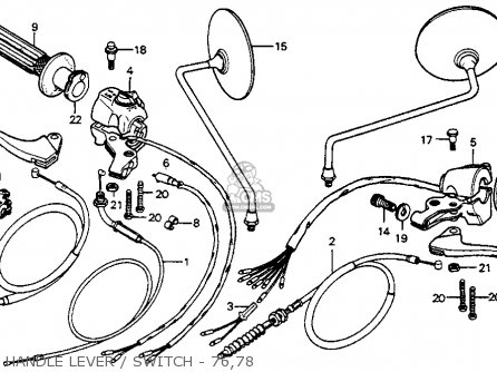 Honda Cb125s 1978 Usa parts list partsmanual partsfiche