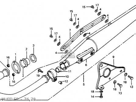 Honda Cb125s 1978 Usa parts list partsmanual partsfiche