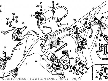 Honda CB125S 1978 USA parts lists and schematics
