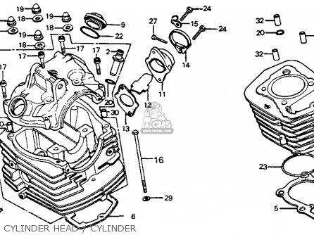 Honda Cb125s 1979 (z) Usa parts list partsmanual partsfiche
