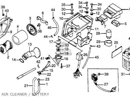 Honda CB125S 1980 (A) USA parts lists and schematics
