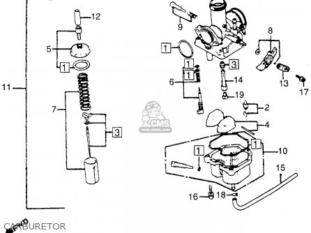 Honda CB125S 1980 (A) USA parts lists and schematics